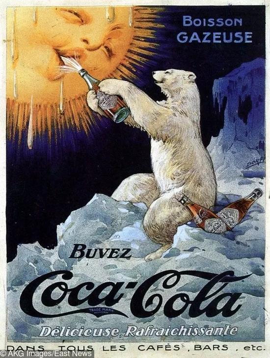 100年前的广告海报 一笔一划画出来